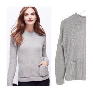 Ann Taylor Gray Pocket Sweater